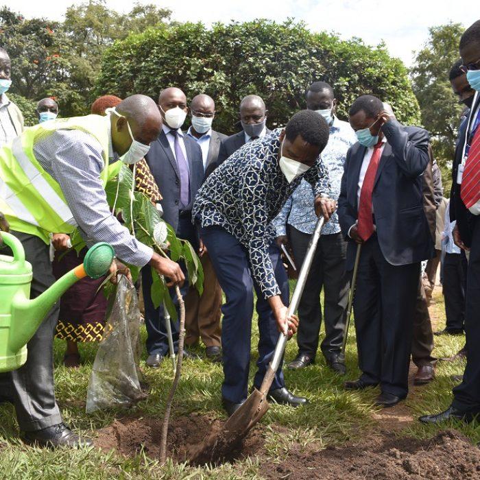 CS Munya planting a tree